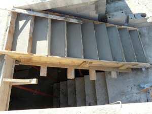 Volumen de hormig n de una escalera for Como hacer una escalera de hormigon